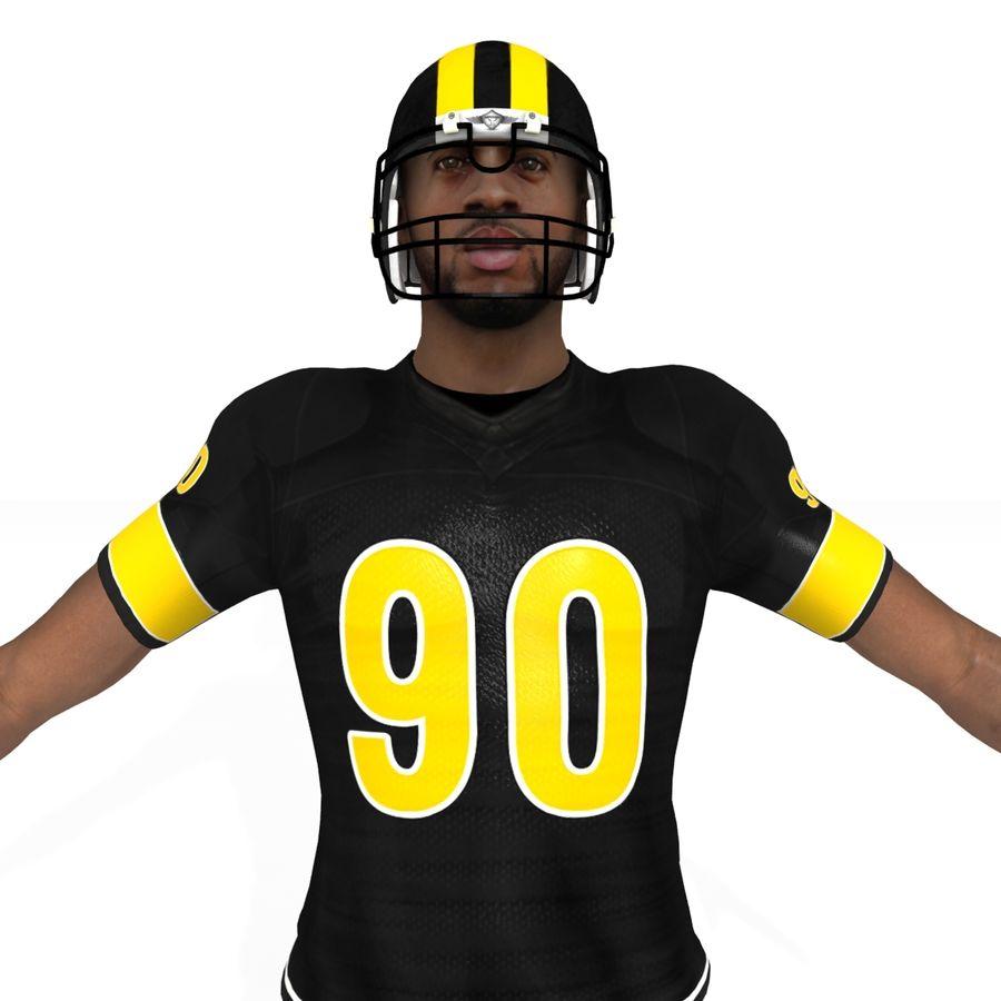 Jugador de fútbol americano royalty-free modelo 3d - Preview no. 4
