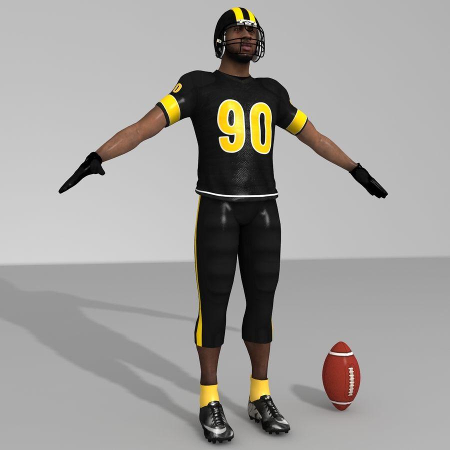 Jugador de fútbol americano royalty-free modelo 3d - Preview no. 2