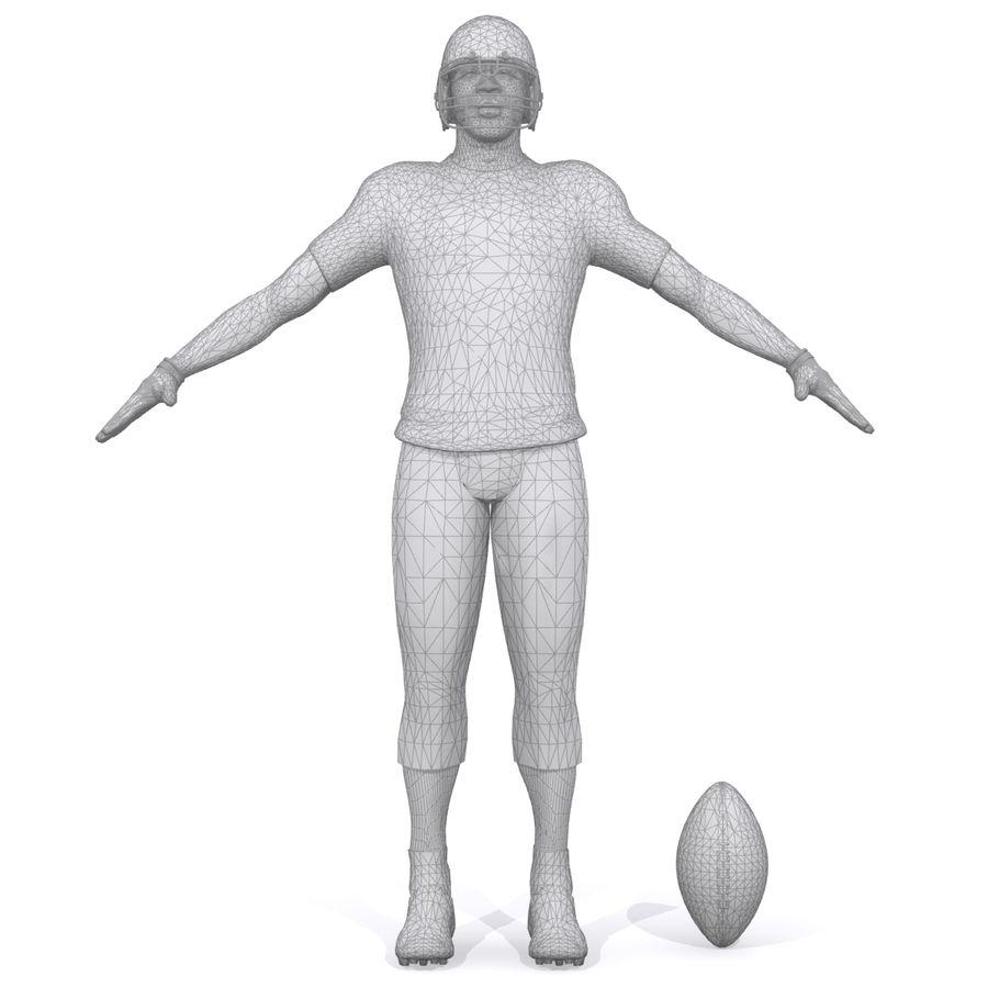 Jugador de fútbol americano royalty-free modelo 3d - Preview no. 11