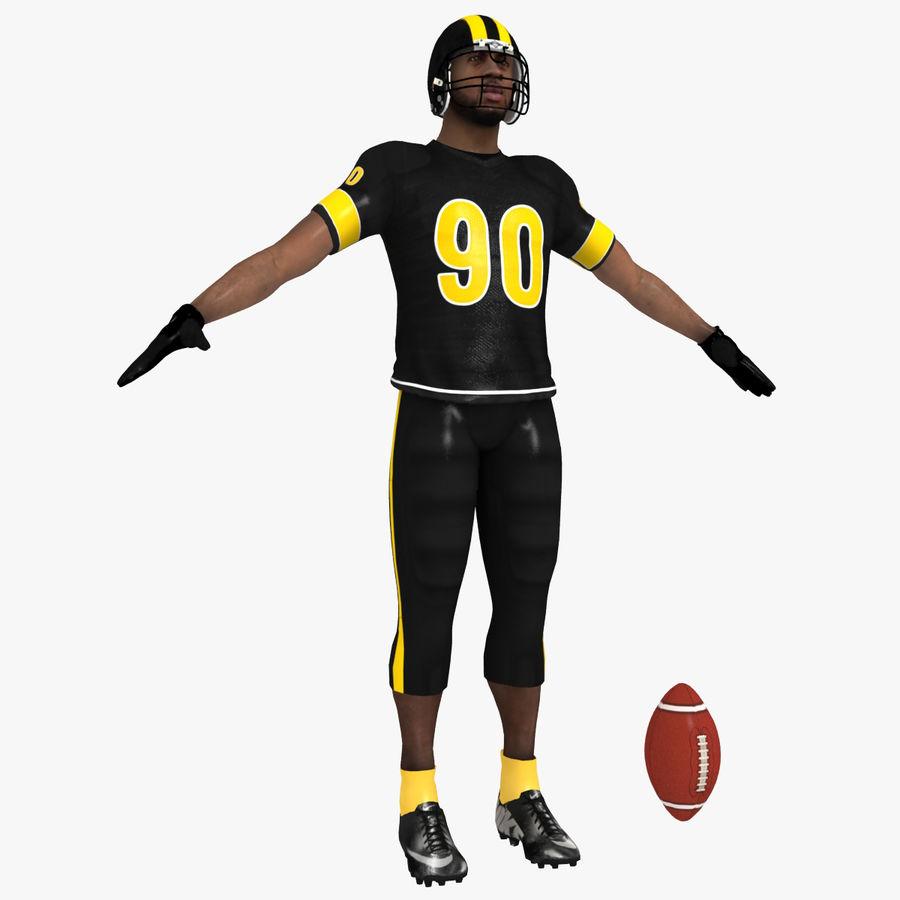 Jugador de fútbol americano royalty-free modelo 3d - Preview no. 1
