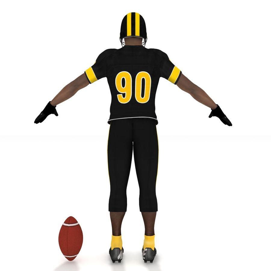 Jugador de fútbol americano royalty-free modelo 3d - Preview no. 9