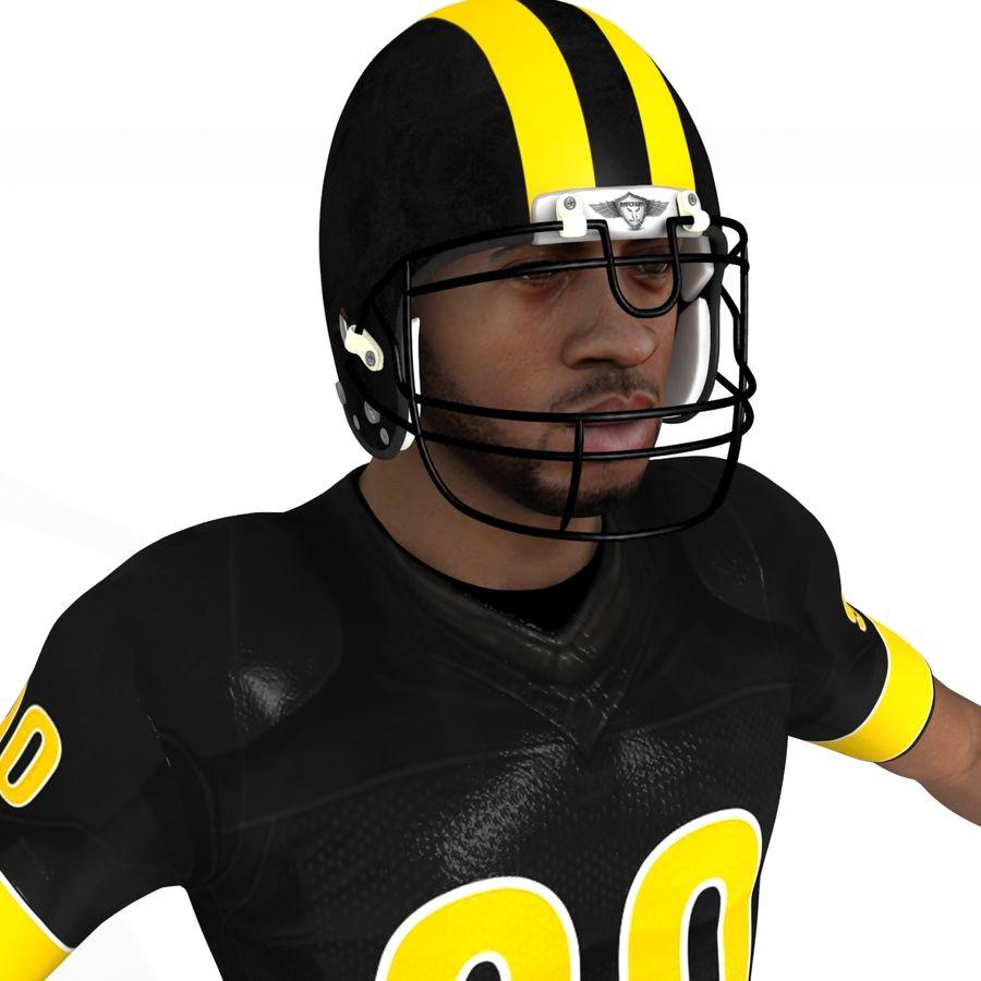 Jugador de fútbol americano royalty-free modelo 3d - Preview no. 8