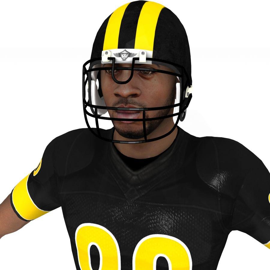 Jugador de fútbol americano royalty-free modelo 3d - Preview no. 7