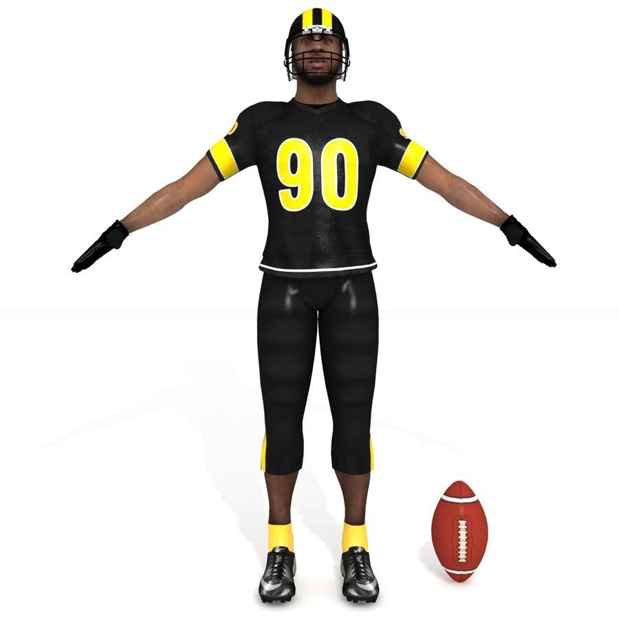 Jugador de fútbol americano royalty-free modelo 3d - Preview no. 3