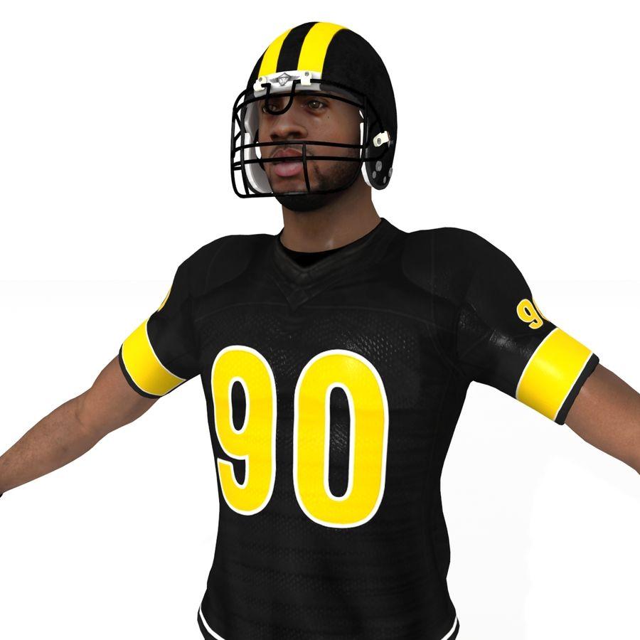 Jugador de fútbol americano royalty-free modelo 3d - Preview no. 5
