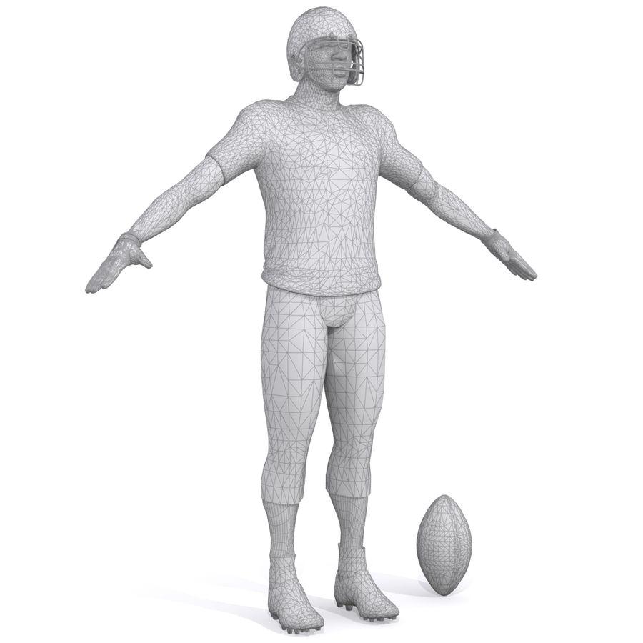 Jugador de fútbol americano royalty-free modelo 3d - Preview no. 10