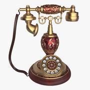 Antyczny telefon wewnętrzny 3d model