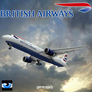 British Airways-767 3d model