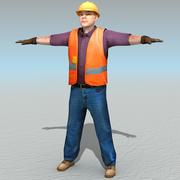 Gündelik 02 İşçi 3d model