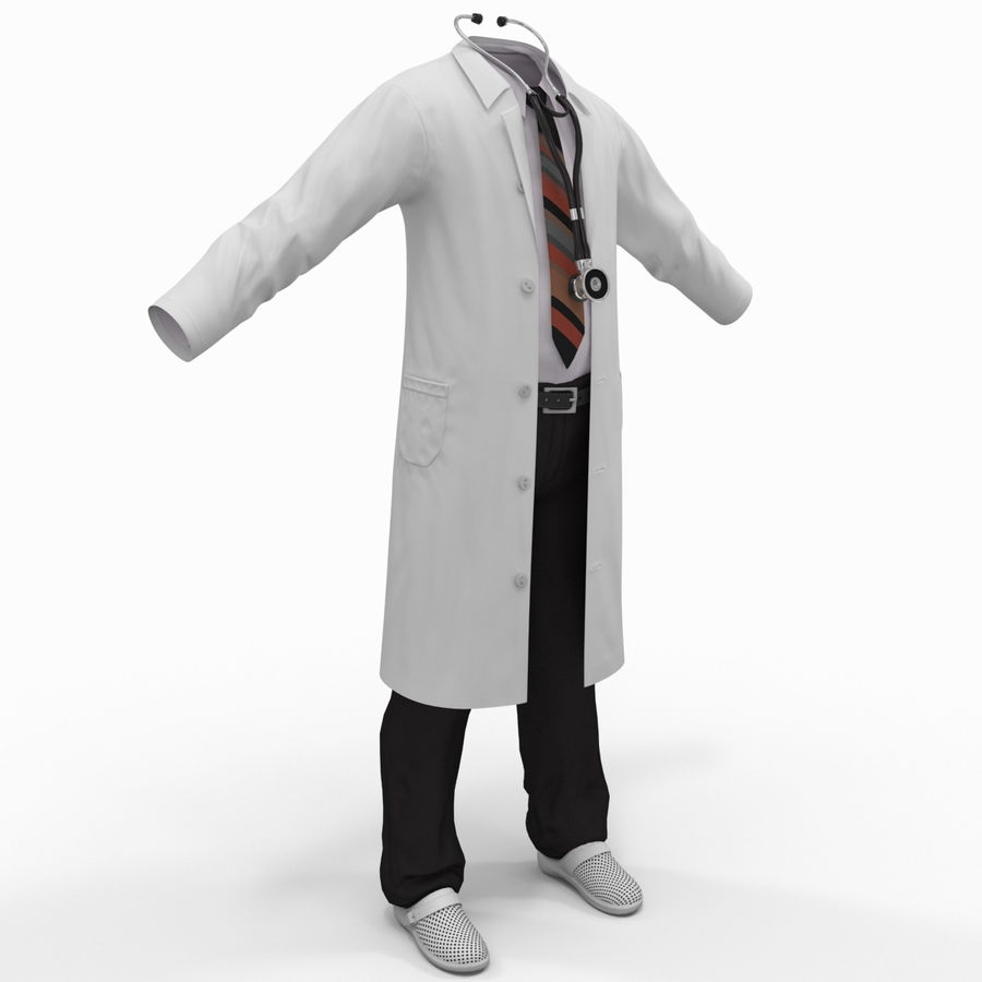 Doctor Clothes royalty-free 3d model - Preview no. 4