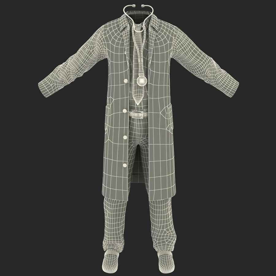 Doctor Clothes royalty-free 3d model - Preview no. 21
