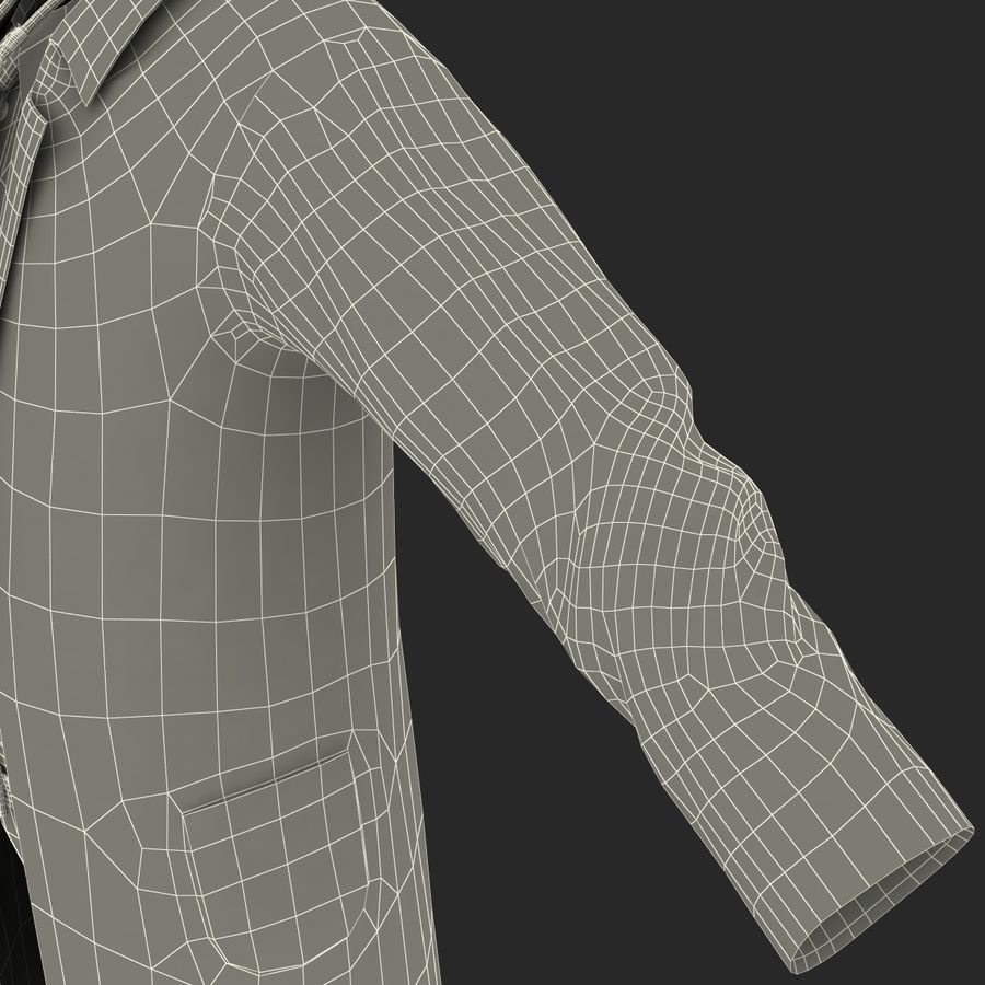 Doctor Clothes royalty-free 3d model - Preview no. 36