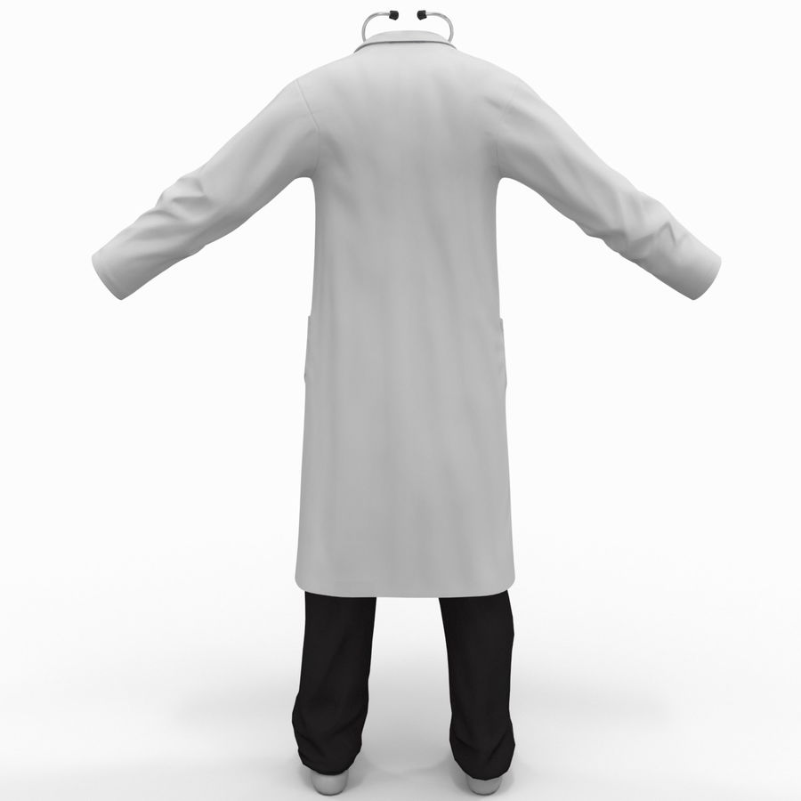 Doctor Clothes royalty-free 3d model - Preview no. 7