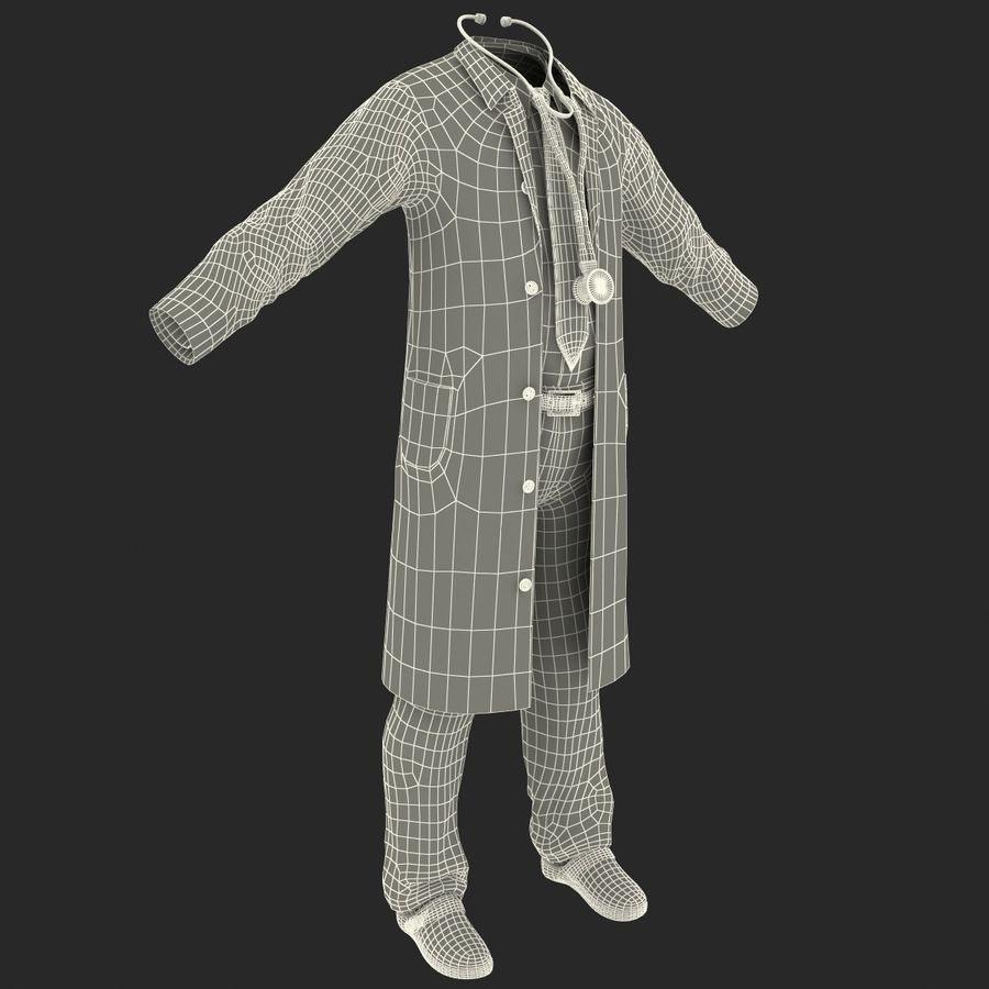 Doctor Clothes royalty-free 3d model - Preview no. 22