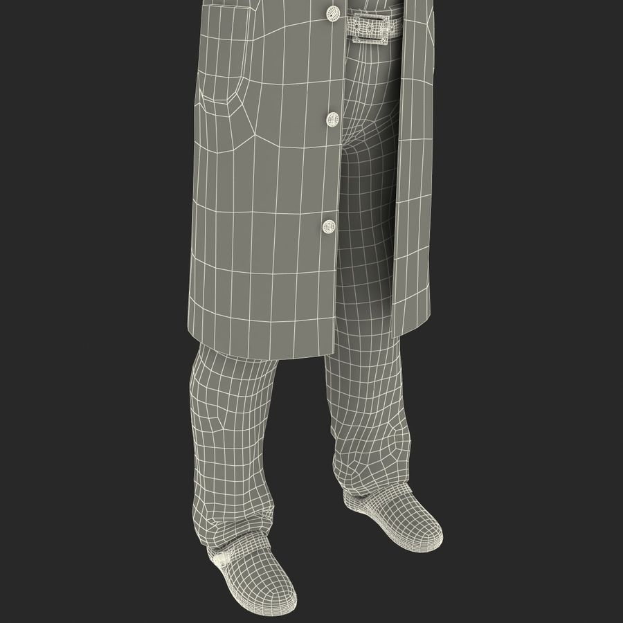 Doctor Clothes royalty-free 3d model - Preview no. 32