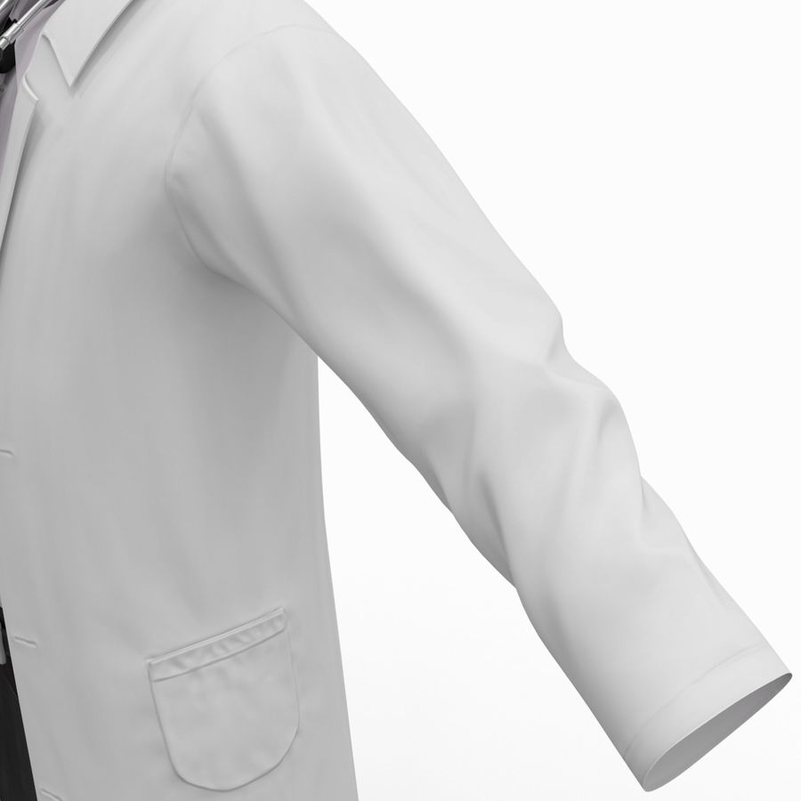 Doctor Clothes royalty-free 3d model - Preview no. 18