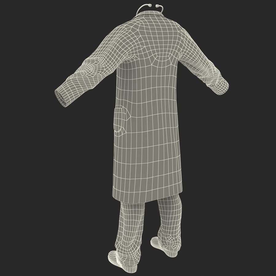 Doctor Clothes royalty-free 3d model - Preview no. 26