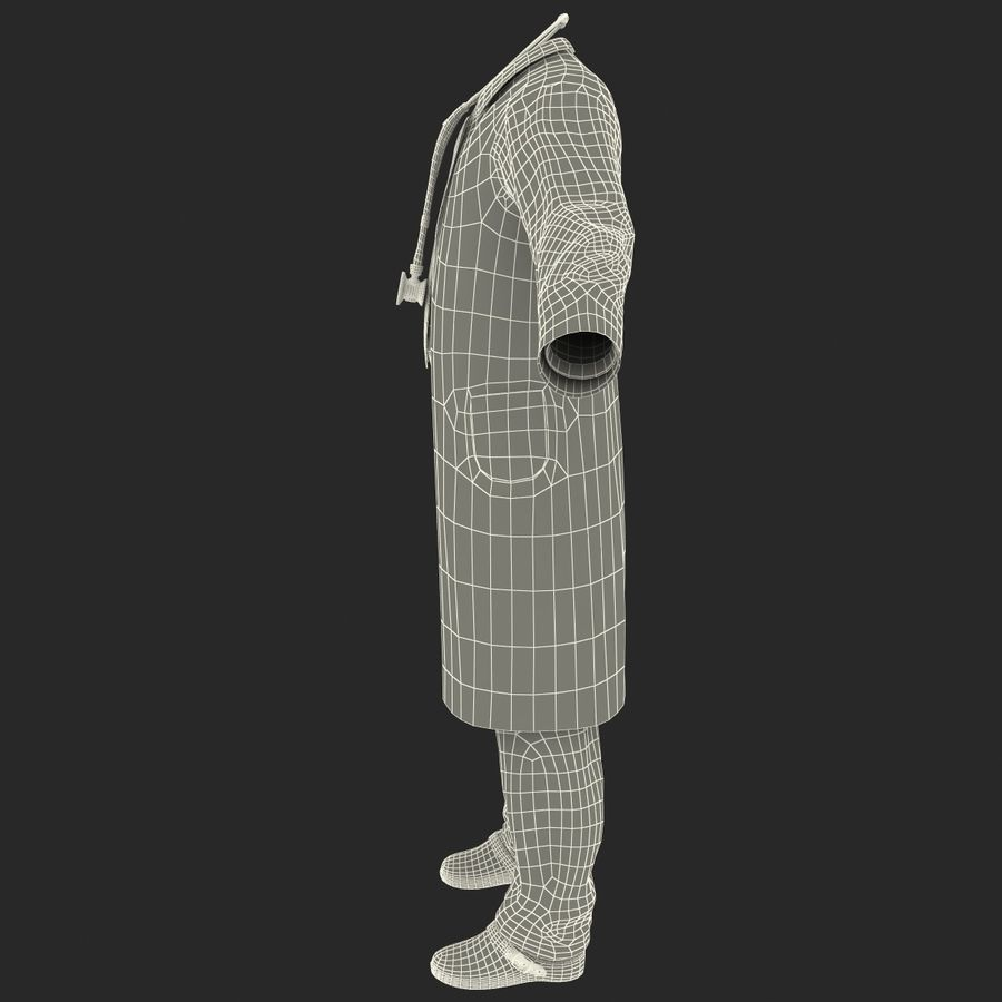 Doctor Clothes royalty-free 3d model - Preview no. 27