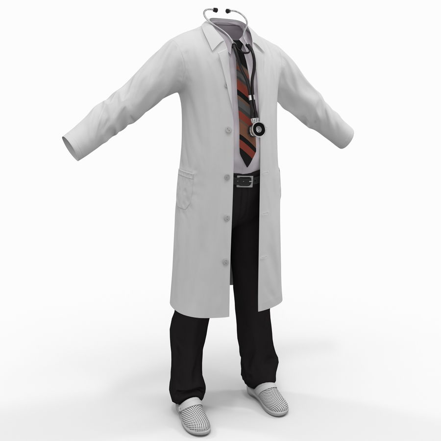 Doctor Clothes royalty-free 3d model - Preview no. 2