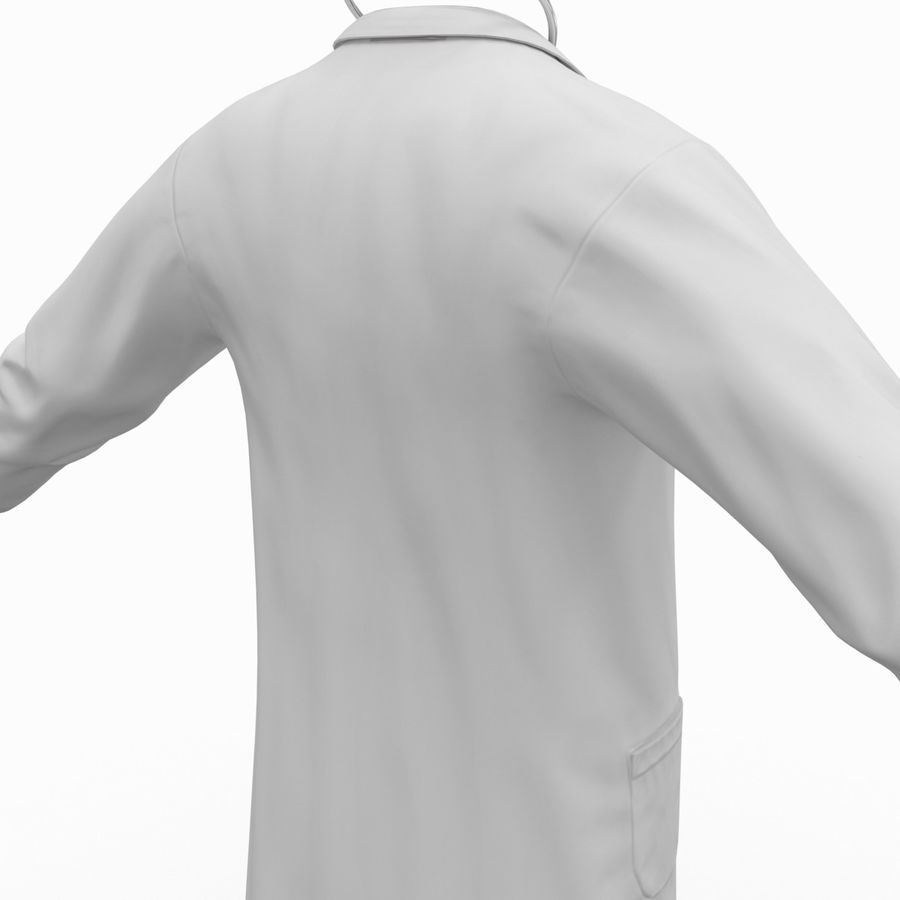 Doctor Clothes royalty-free 3d model - Preview no. 13
