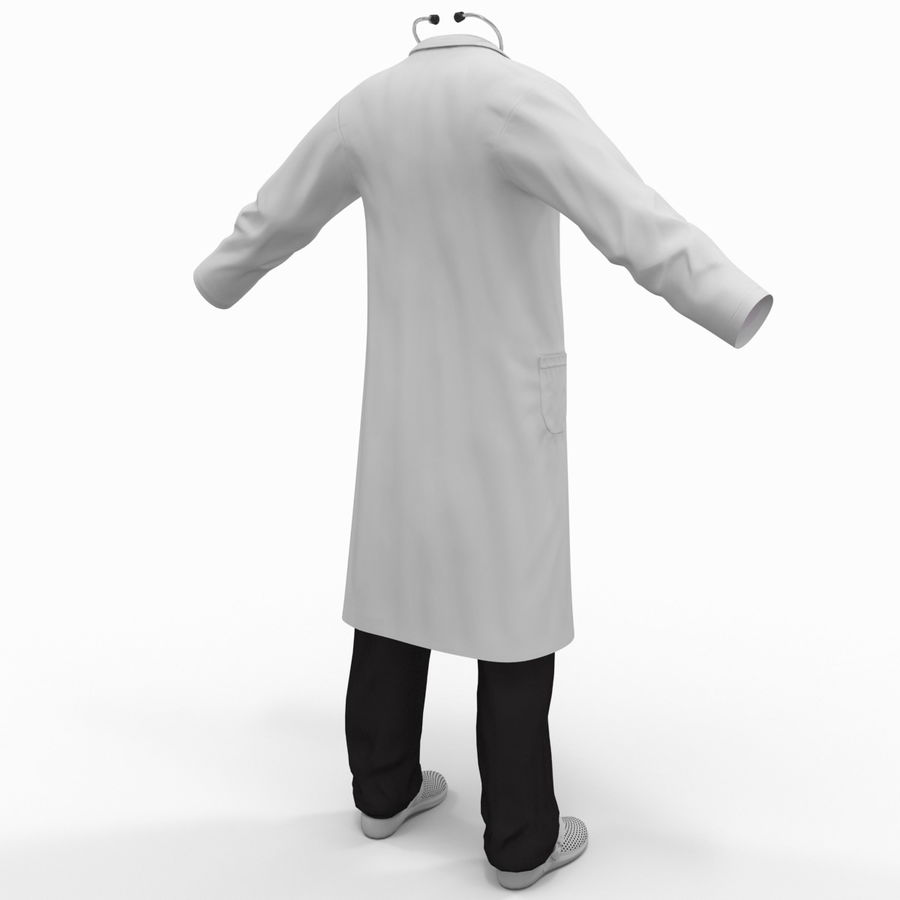Doctor Clothes royalty-free 3d model - Preview no. 6