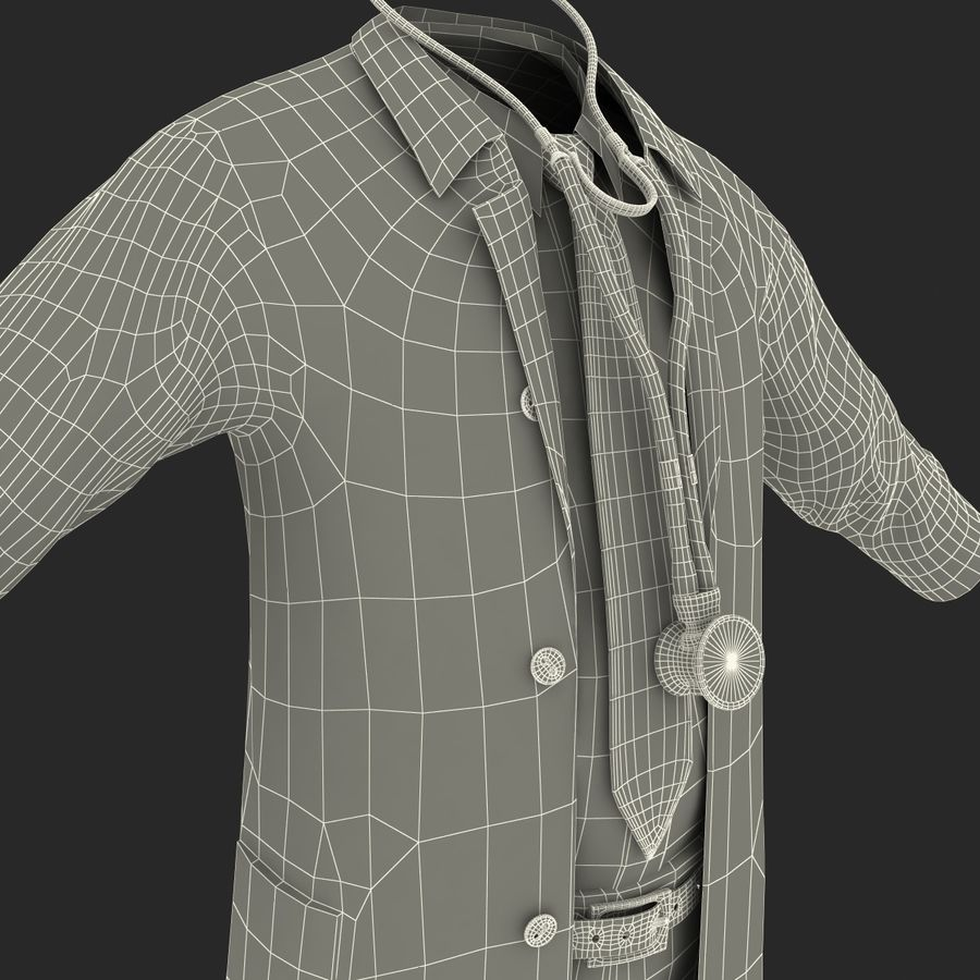 Doctor Clothes royalty-free 3d model - Preview no. 30