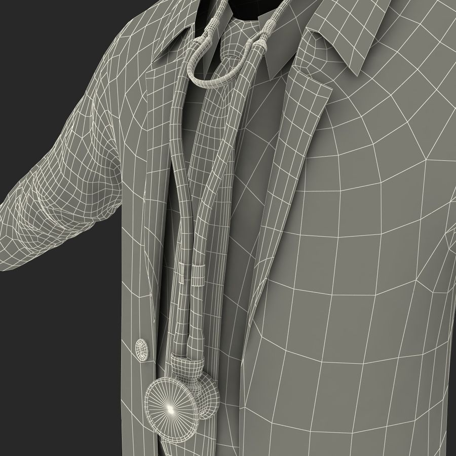 Doctor Clothes royalty-free 3d model - Preview no. 38