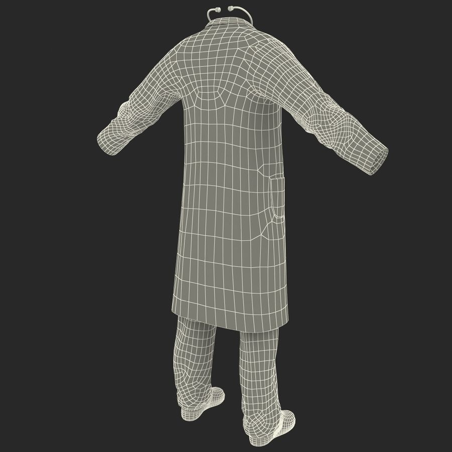 Doctor Clothes royalty-free 3d model - Preview no. 24