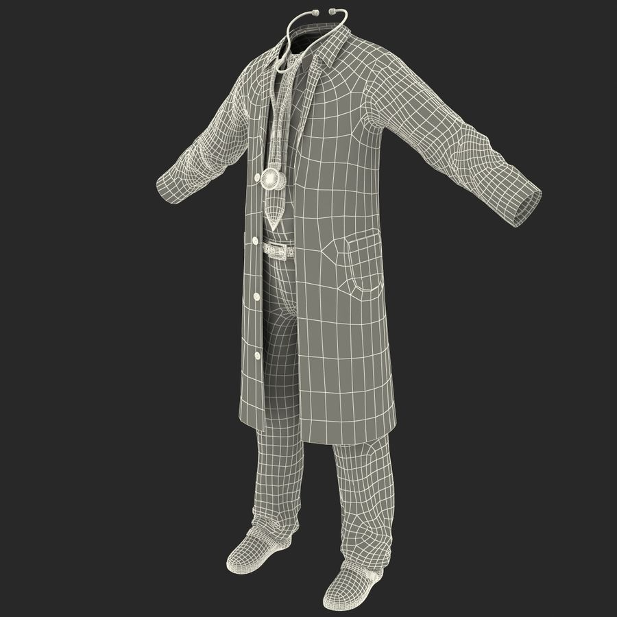 Doctor Clothes royalty-free 3d model - Preview no. 28