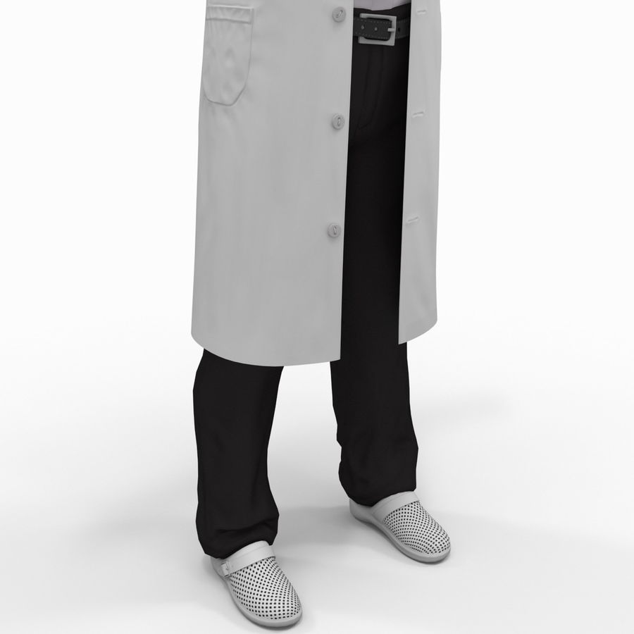 Doctor Clothes royalty-free 3d model - Preview no. 14
