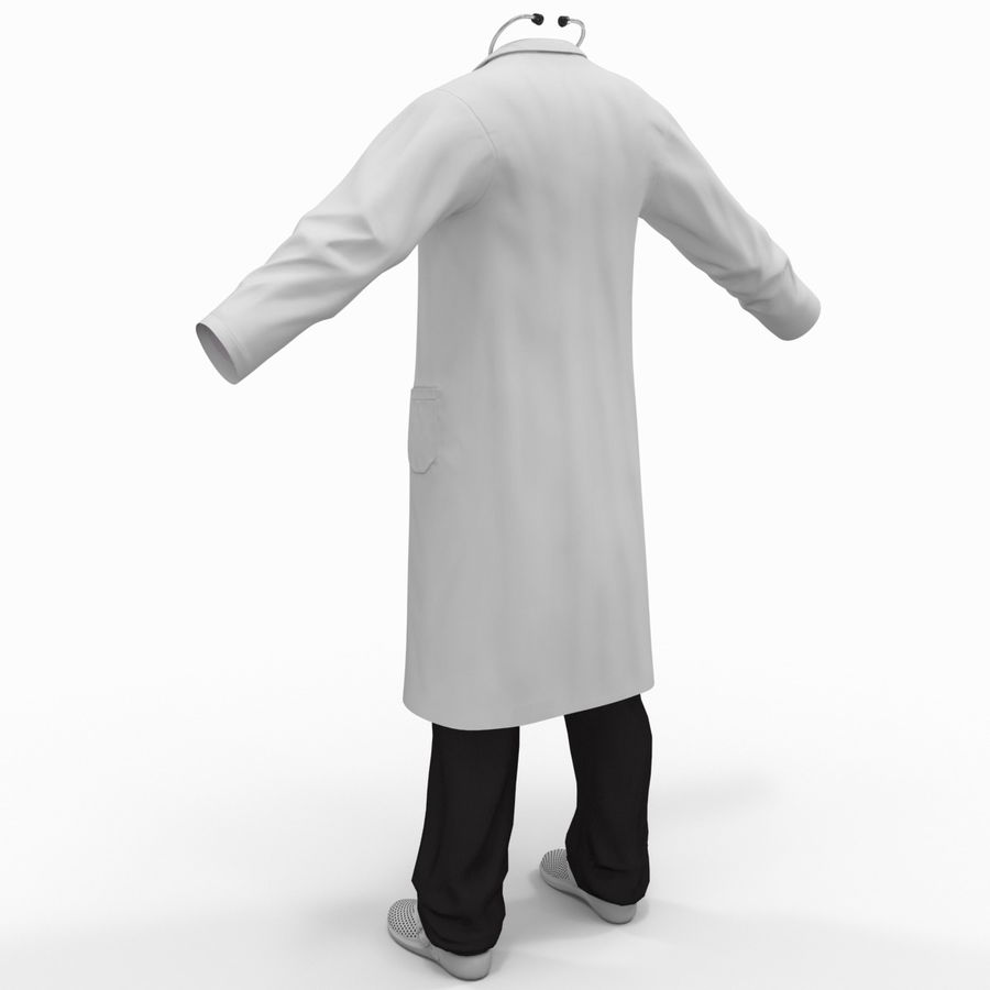 Doctor Clothes royalty-free 3d model - Preview no. 8