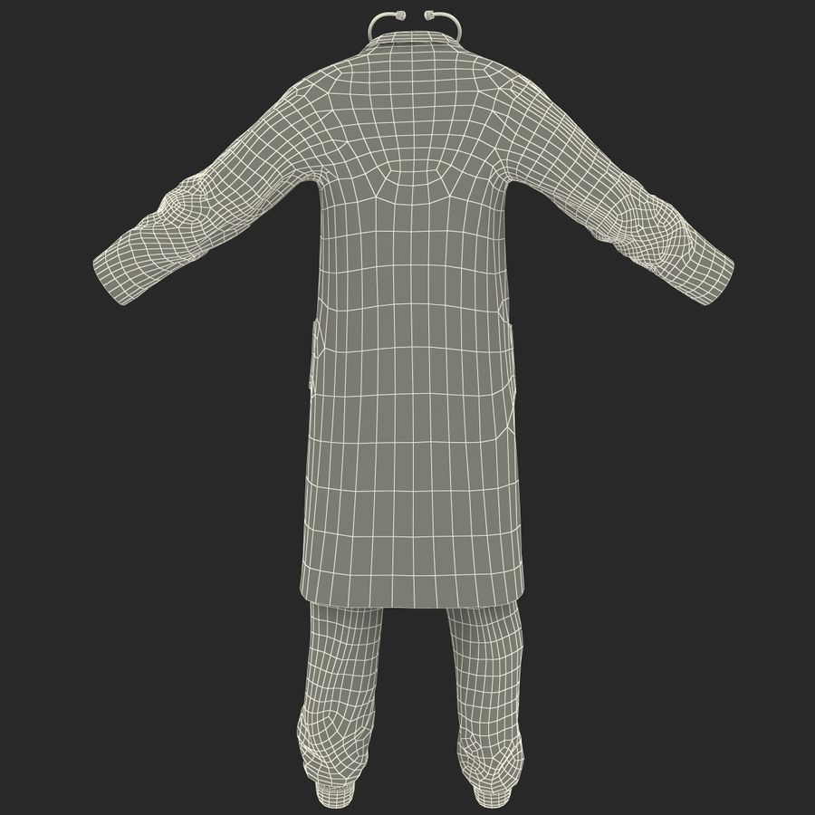 Doctor Clothes royalty-free 3d model - Preview no. 25