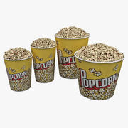 Popcorn Bowls Set 3d model