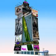 Cartoon One Times Square 3d model