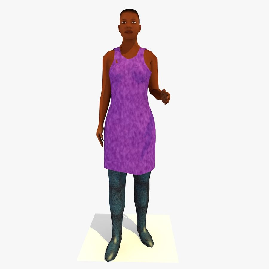 African African People Bundle royalty-free 3d model - Preview no. 44