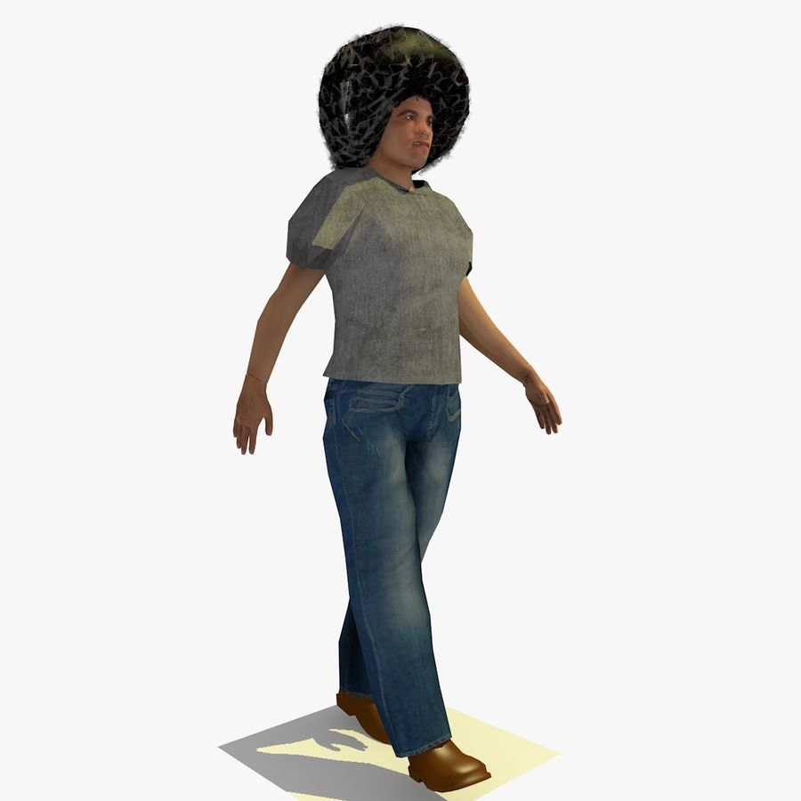 African African People Bundle royalty-free 3d model - Preview no. 29