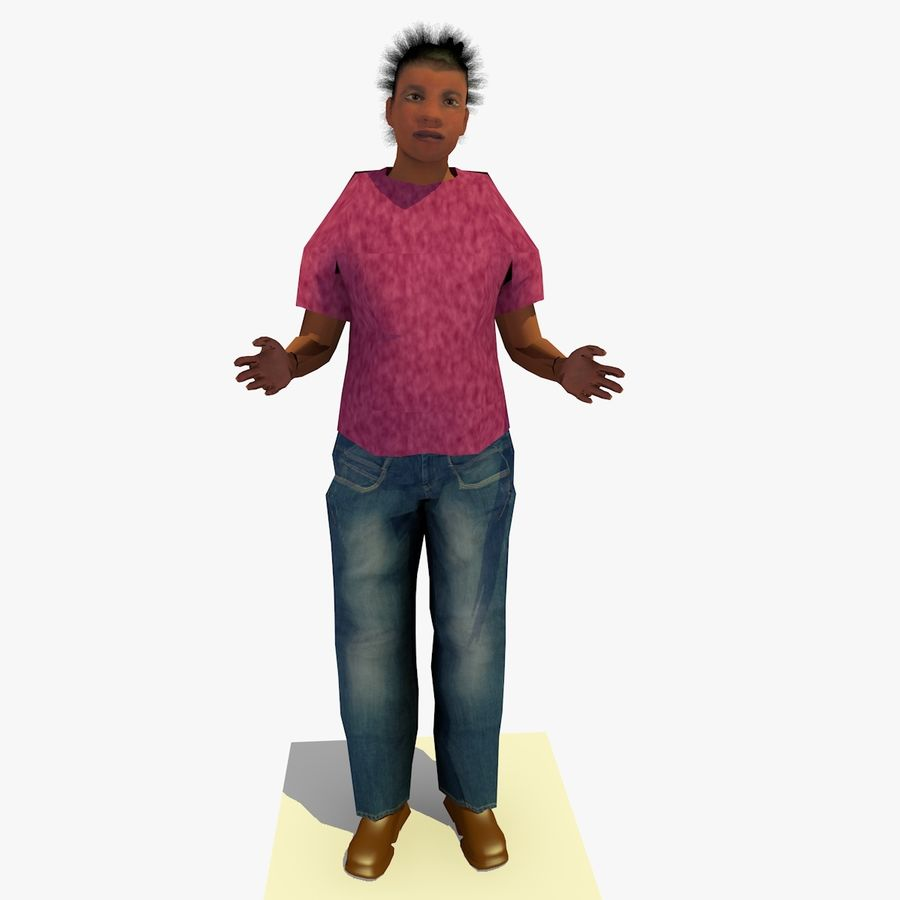 African African People Bundle royalty-free 3d model - Preview no. 59