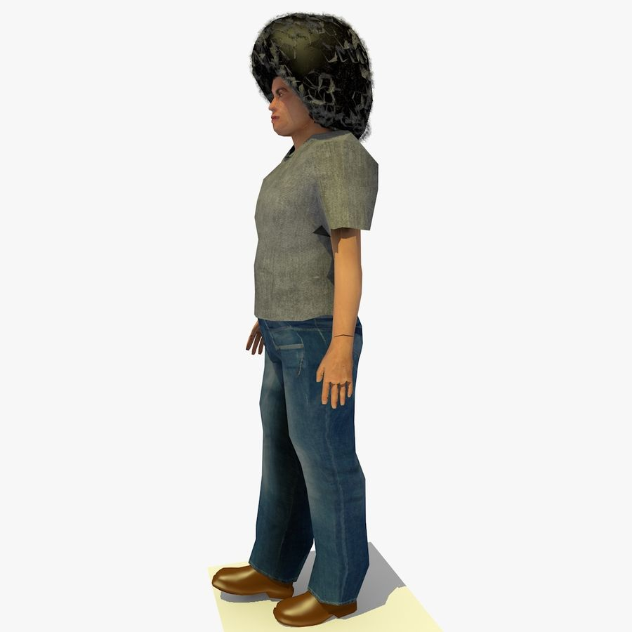 African African People Bundle royalty-free 3d model - Preview no. 28