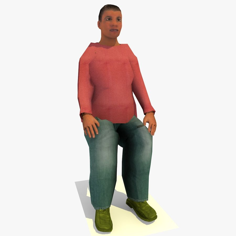 African African People Bundle royalty-free 3d model - Preview no. 83