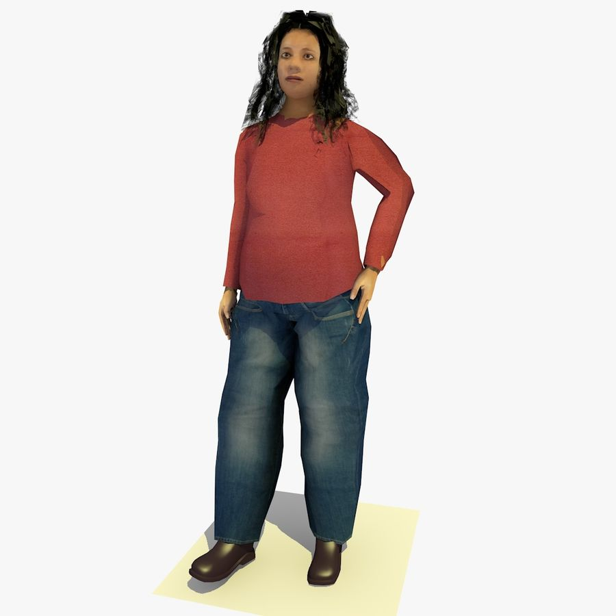 African African People Bundle royalty-free 3d model - Preview no. 53