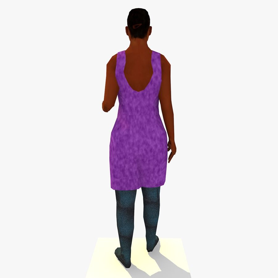 African African People Bundle royalty-free 3d model - Preview no. 45