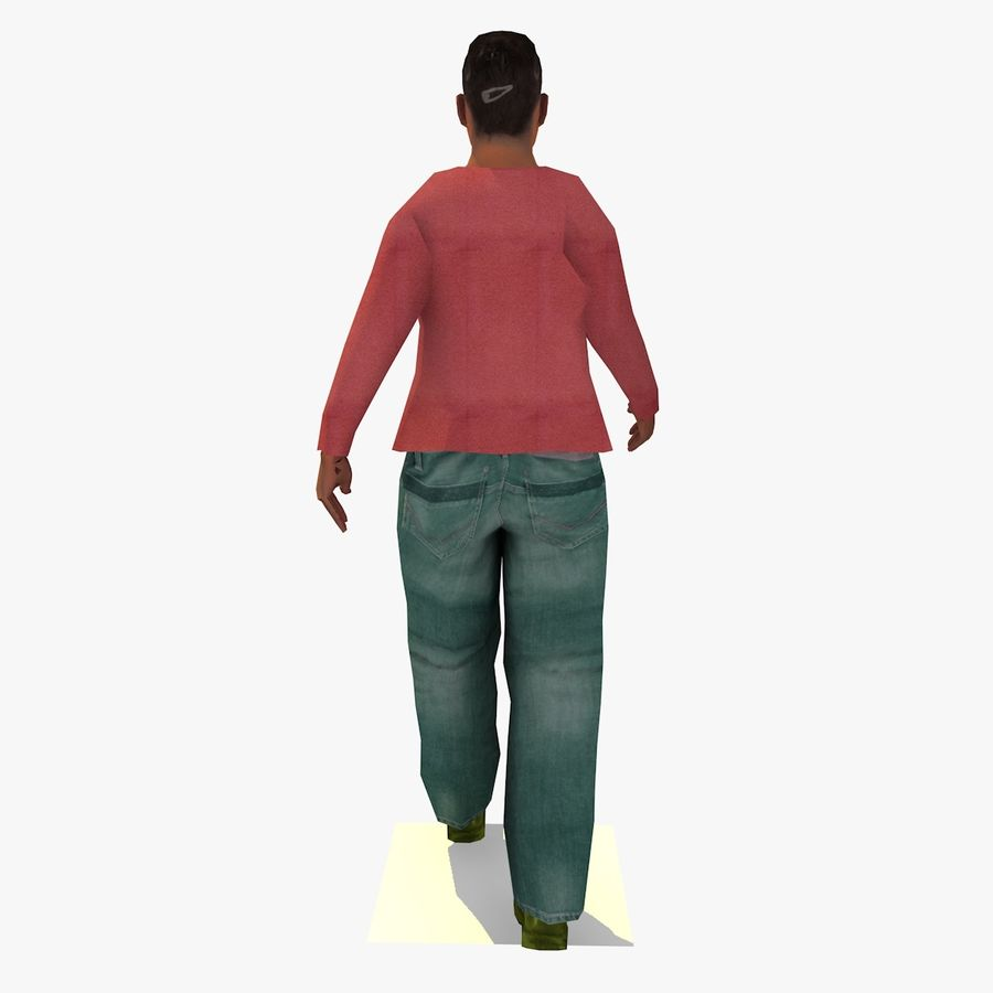 African African People Bundle royalty-free 3d model - Preview no. 90