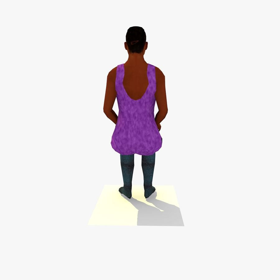 African African People Bundle royalty-free 3d model - Preview no. 42