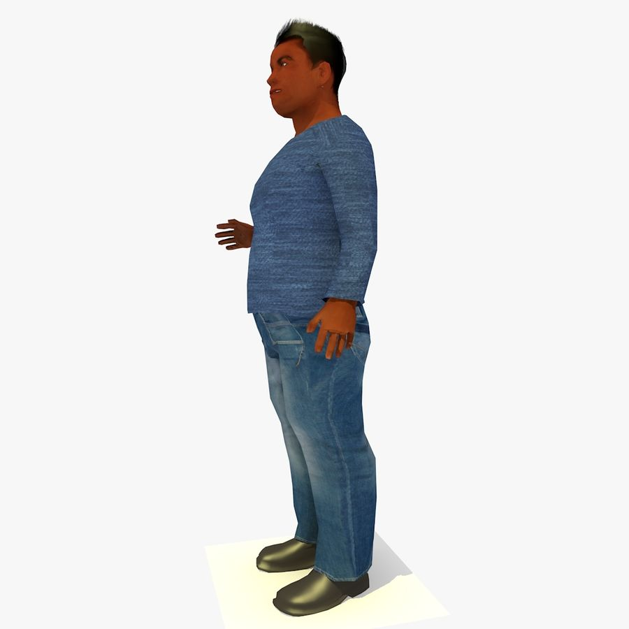 African African People Bundle royalty-free 3d model - Preview no. 37