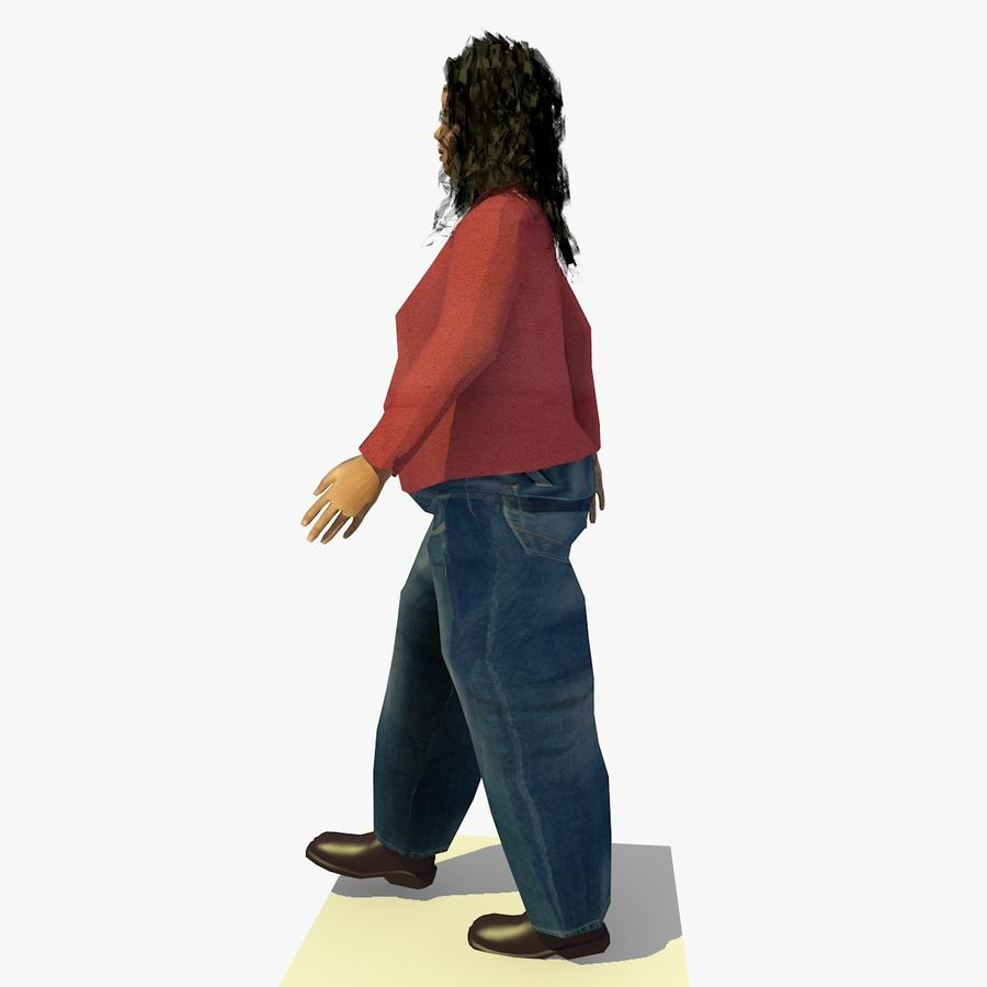 African African People Bundle royalty-free 3d model - Preview no. 94