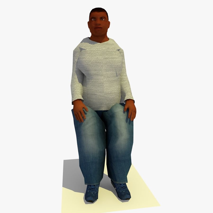 African African People Bundle royalty-free 3d model - Preview no. 74