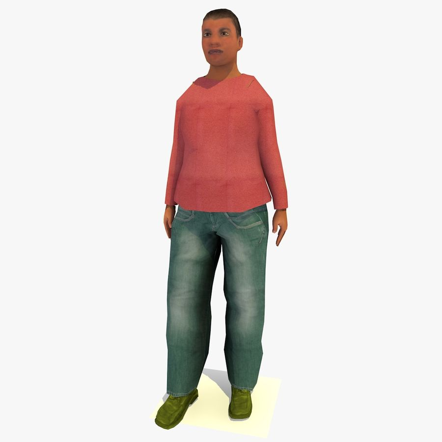 African African People Bundle royalty-free 3d model - Preview no. 86