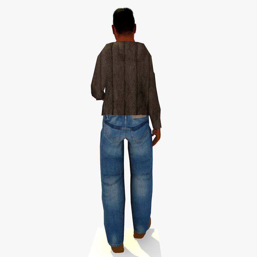 African African People Bundle royalty-free 3d model - Preview no. 18