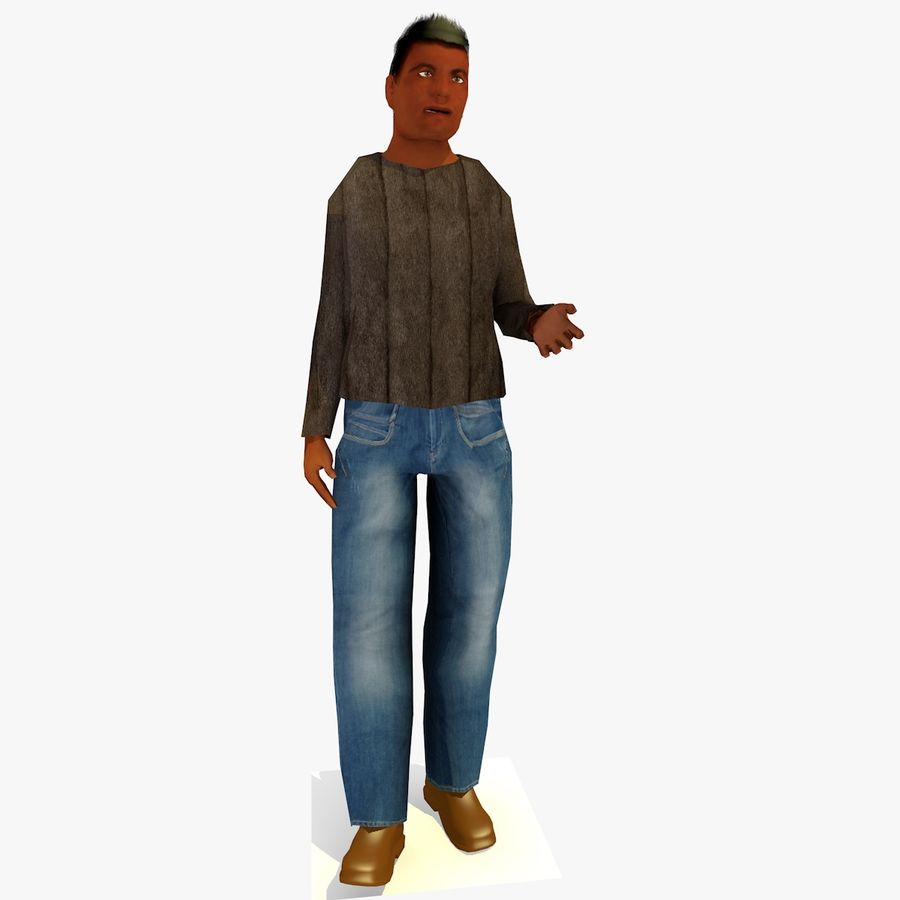 African African People Bundle royalty-free 3d model - Preview no. 17