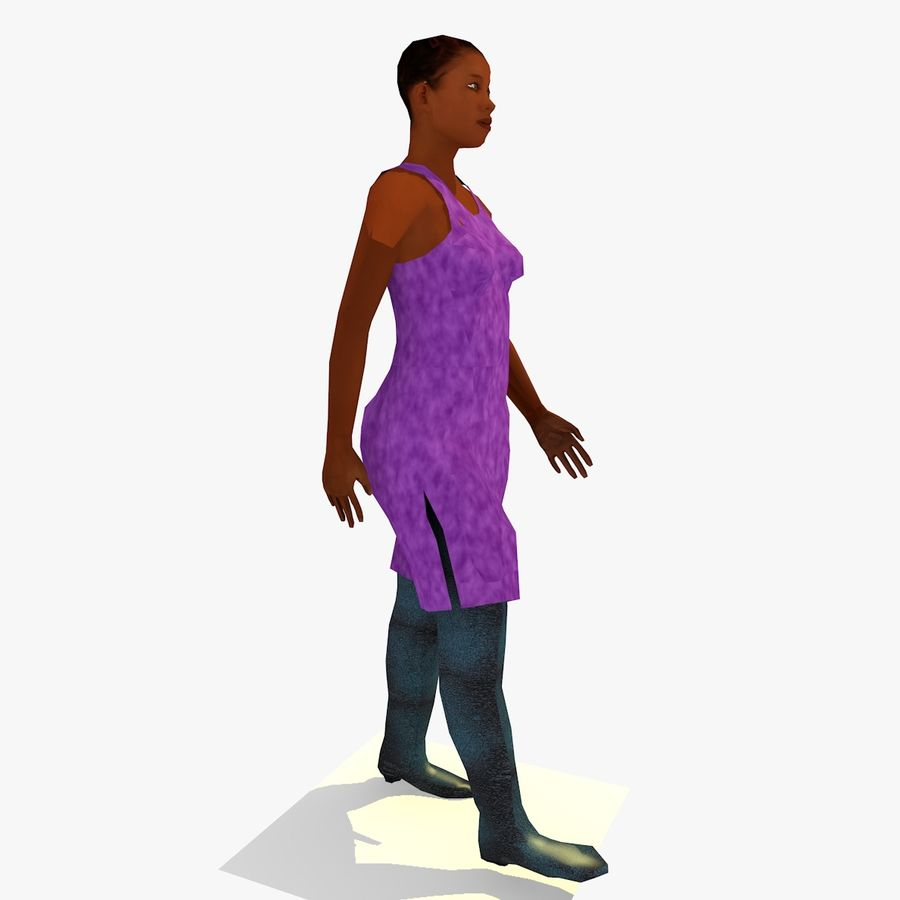 African African People Bundle royalty-free 3d model - Preview no. 47